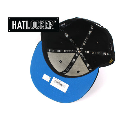 Hat Locker Australia New Era NRL Cronulla Sharks Black Pop Snapback Hat Under