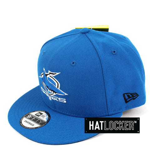 Hat Locker Australia New Era NRL Cronulla Sharks Core Snapback Hat Side