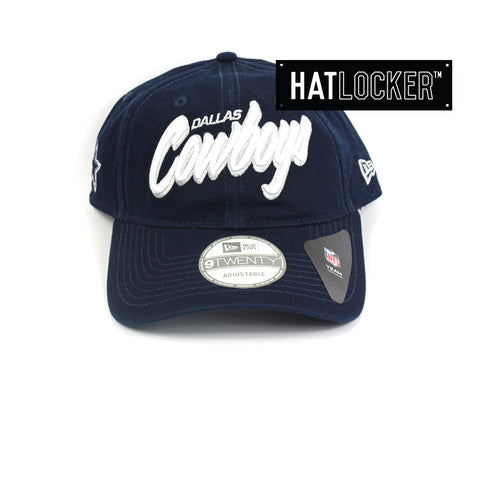 New Era Dallas Cowboys Core Script Curved Brim Cap