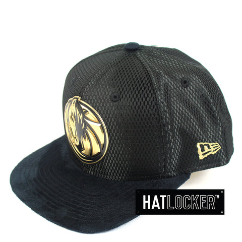 New Era - Dallas Mavericks On-Court Black Gold Snapback
