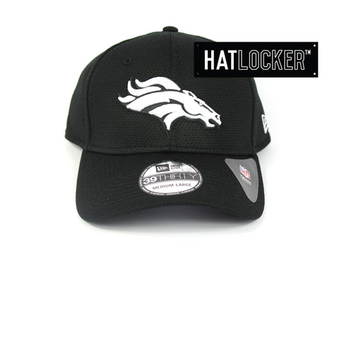New Era Denver Broncos Black White Performance Curved Brim Hat