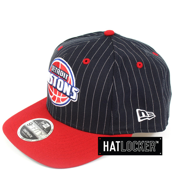 New Era Detroit Pistons Throwback Precurved Snapback Hat