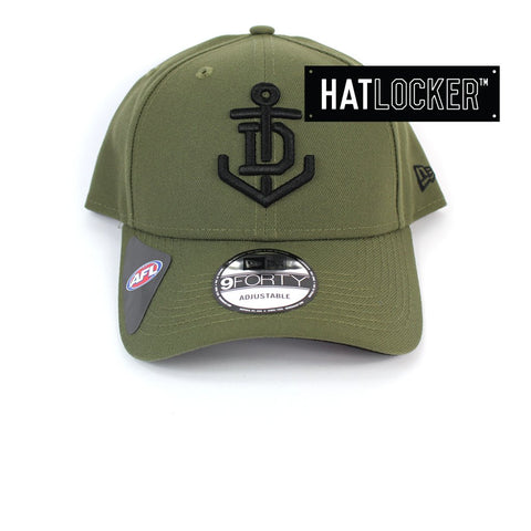 New Era Fremantle Dockers 2020 Shadow Tech Olive Curved Snapback Hat