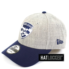New Era Geelong Cats Heather Curved Snapback
