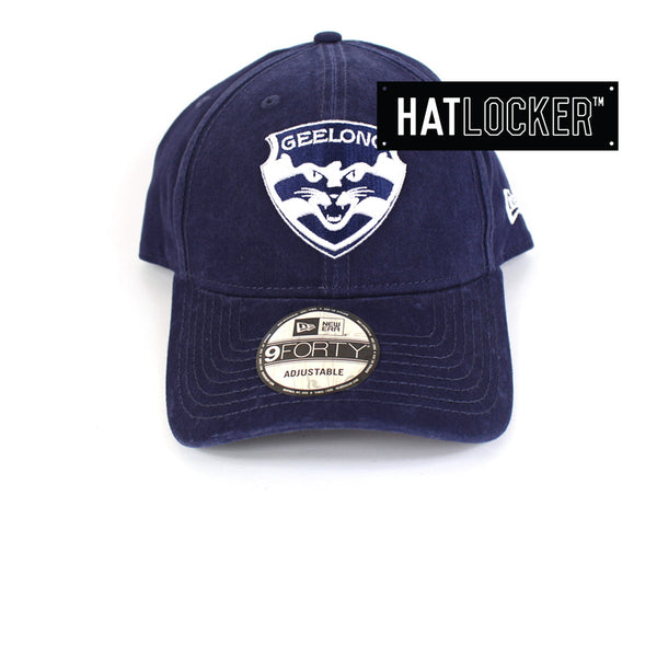 New Era - Geelong Cats Washed Cotton Curved Brim
