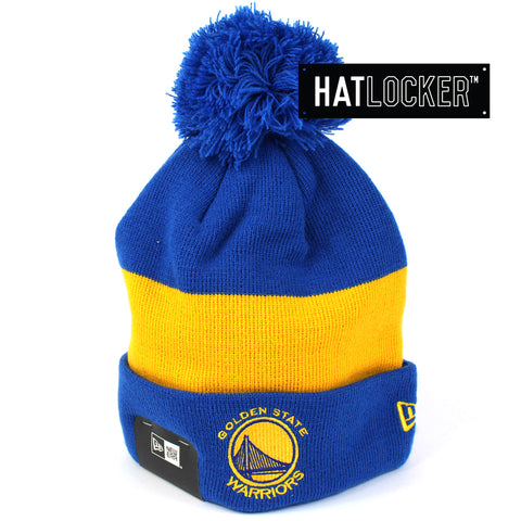 New Era Golden State Warriors Pom Knit Beanie