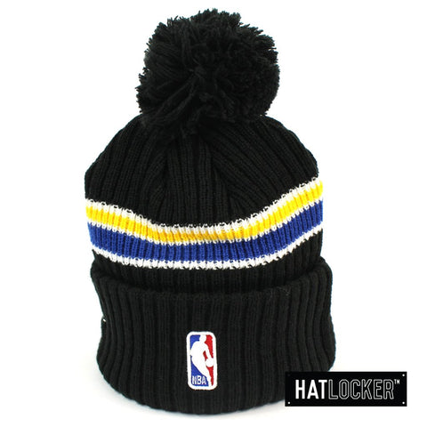 New Era Golden State Warriors BH Series Black Pom Knit Beanie