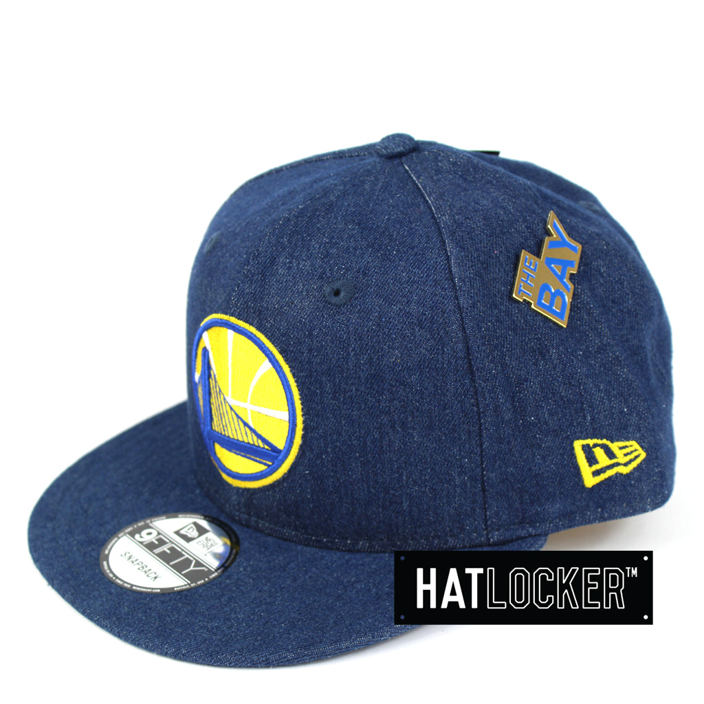 New Era Golden State Warriors Denim Snapback Hat