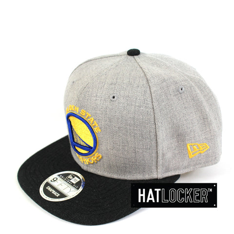 New Era - Golden State Warriors Heather Grey Black Snapback
