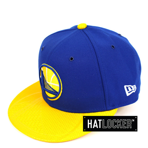 New Era Golden State Warriors On Court Emblem Collection Snapback