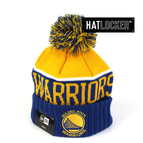 New Era Golden State Warriors Team Dip Youth Beanie