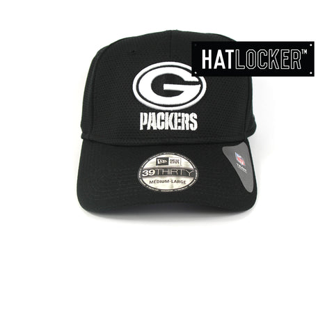 New Era Green Bay Packers Black White Performance Curved Brim Hat