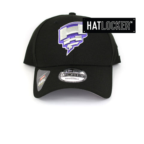 New Era Hobart Hurricanes BBL 08 Black Curved Brim Hat