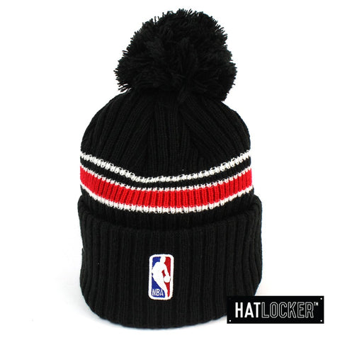 New Era Houston Rockets BH Series Black Pom Knit Beanie
