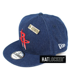 New Era Houston Rockets Denim Snapback Hat
