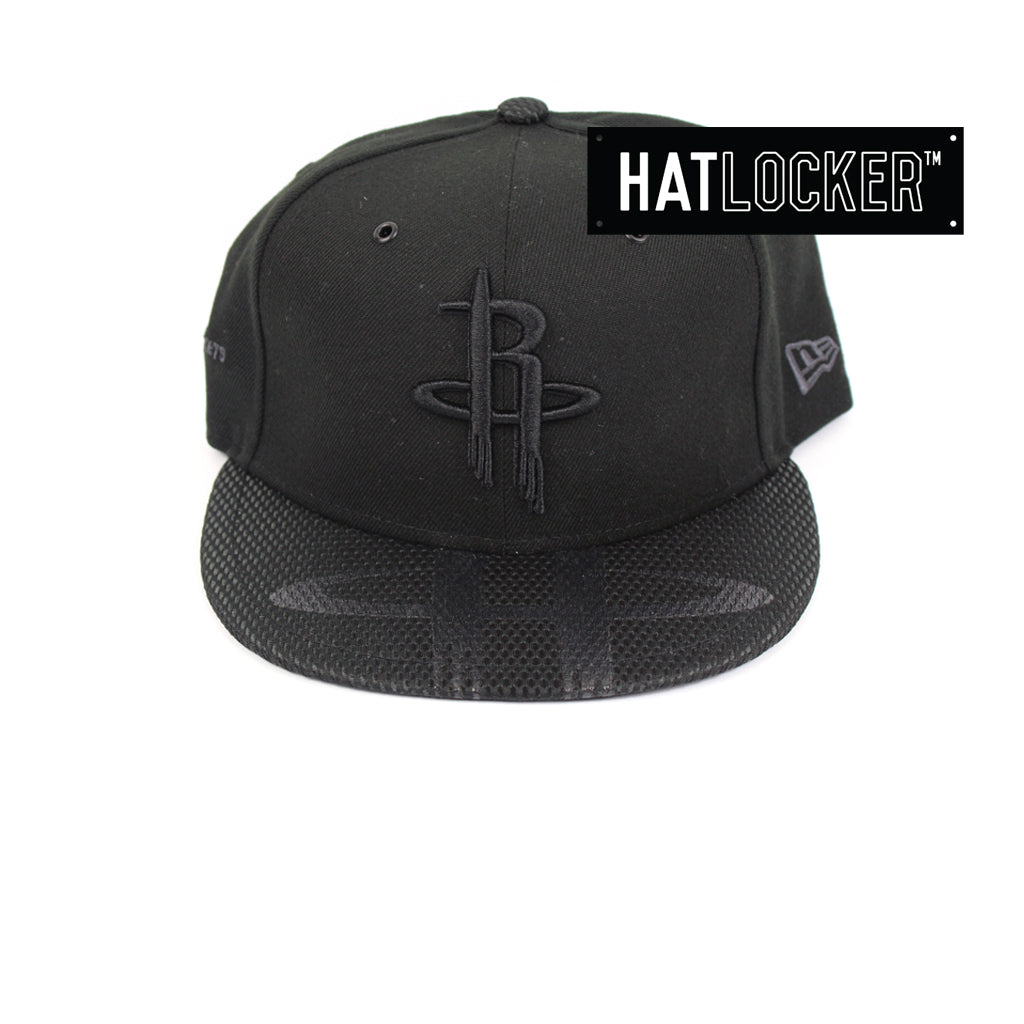 New Era Houston Rockets On Court Black Collection Snapback Hat