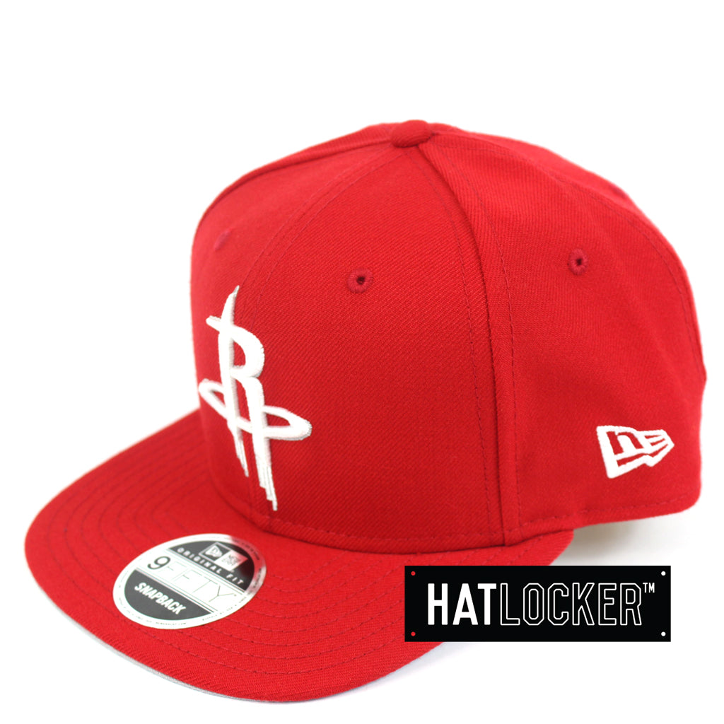 Hat Locker Australia New Era NBA Houston Rockets Scarlet Snapback Hat Side