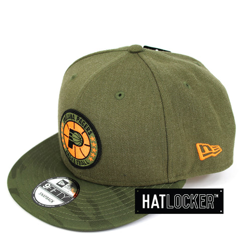 New Era Indiana Pacers 2018 NBA Tip Off Army Snapback Hat