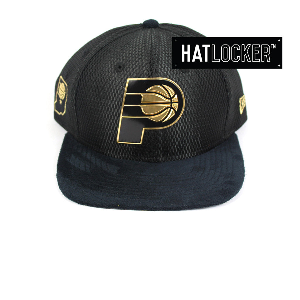 New Era - Indiana Pacers On-Court Black Gold Snapback