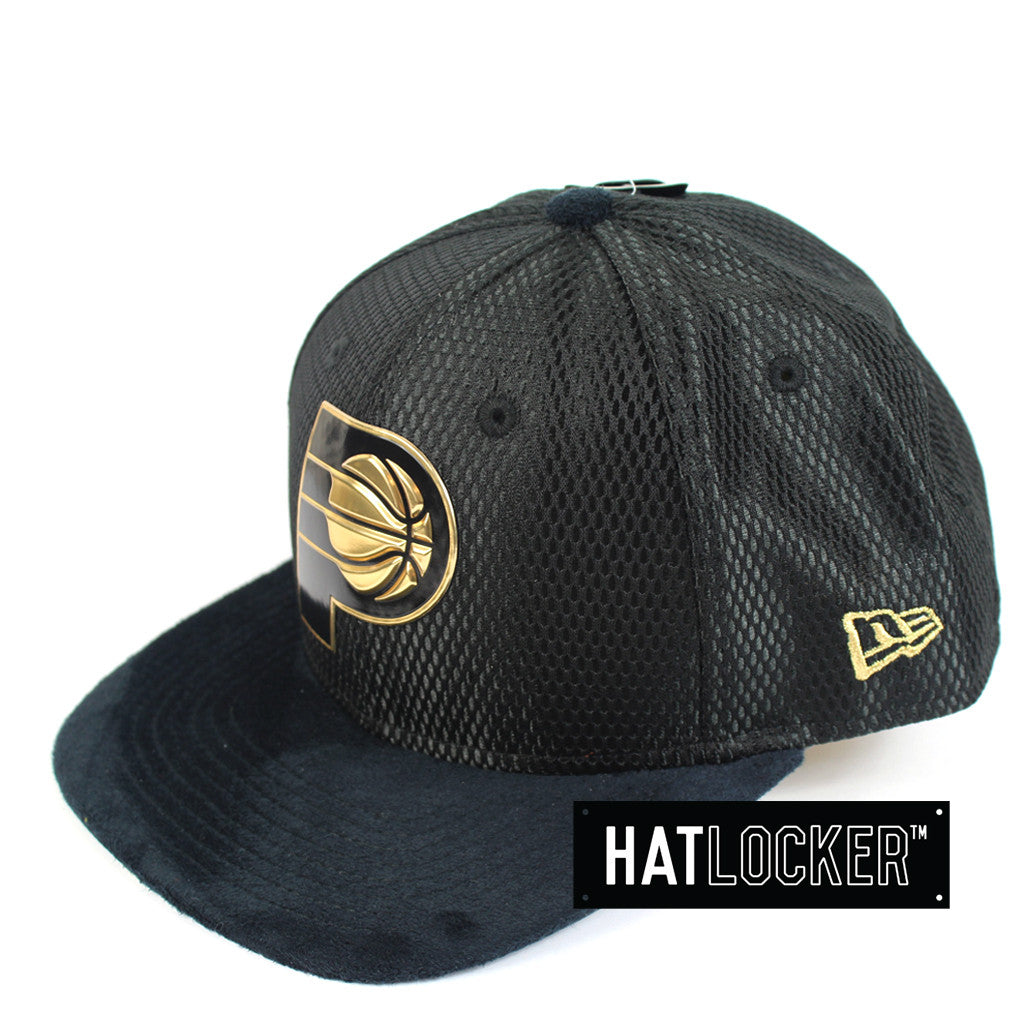 buy popular 05fc5 54234 New Era - Indiana Pacers On-Court Black Gold Snapback. New Era 9Fifty  Official NBA ...