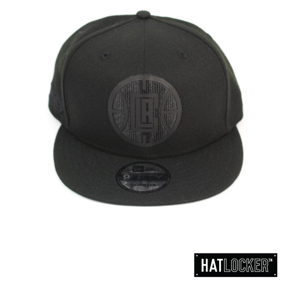New Era LA Clippers BH Series Black On Black Snapback Hat