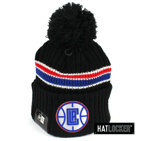 New Era LA Clippers BH Series Black Pom Knit Beanie