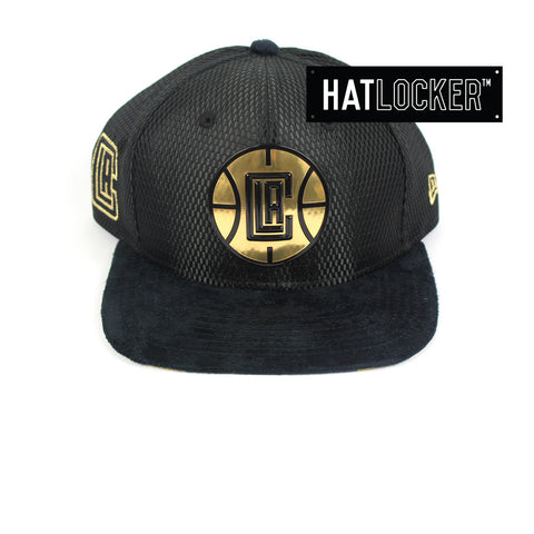 New Era - LA Clippers On-Court Black Gold Snapback