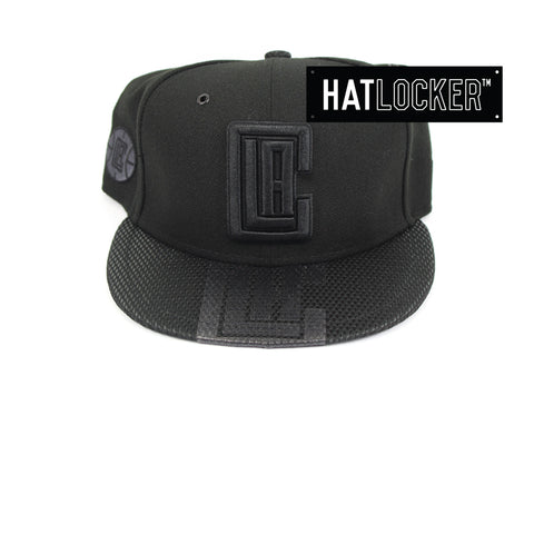 New Era LA Clippers On Court Black Collection Snapback Hat