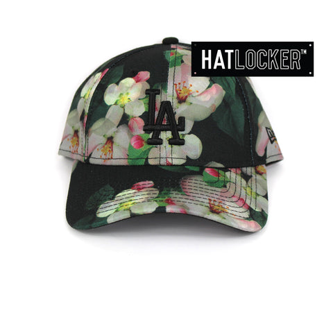 New Era Womens LA Dodgers Black Floral Curved Brim Cap