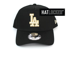 New Era LA Dodgers Stone Wheat Logo Black Curved Snapback Cap