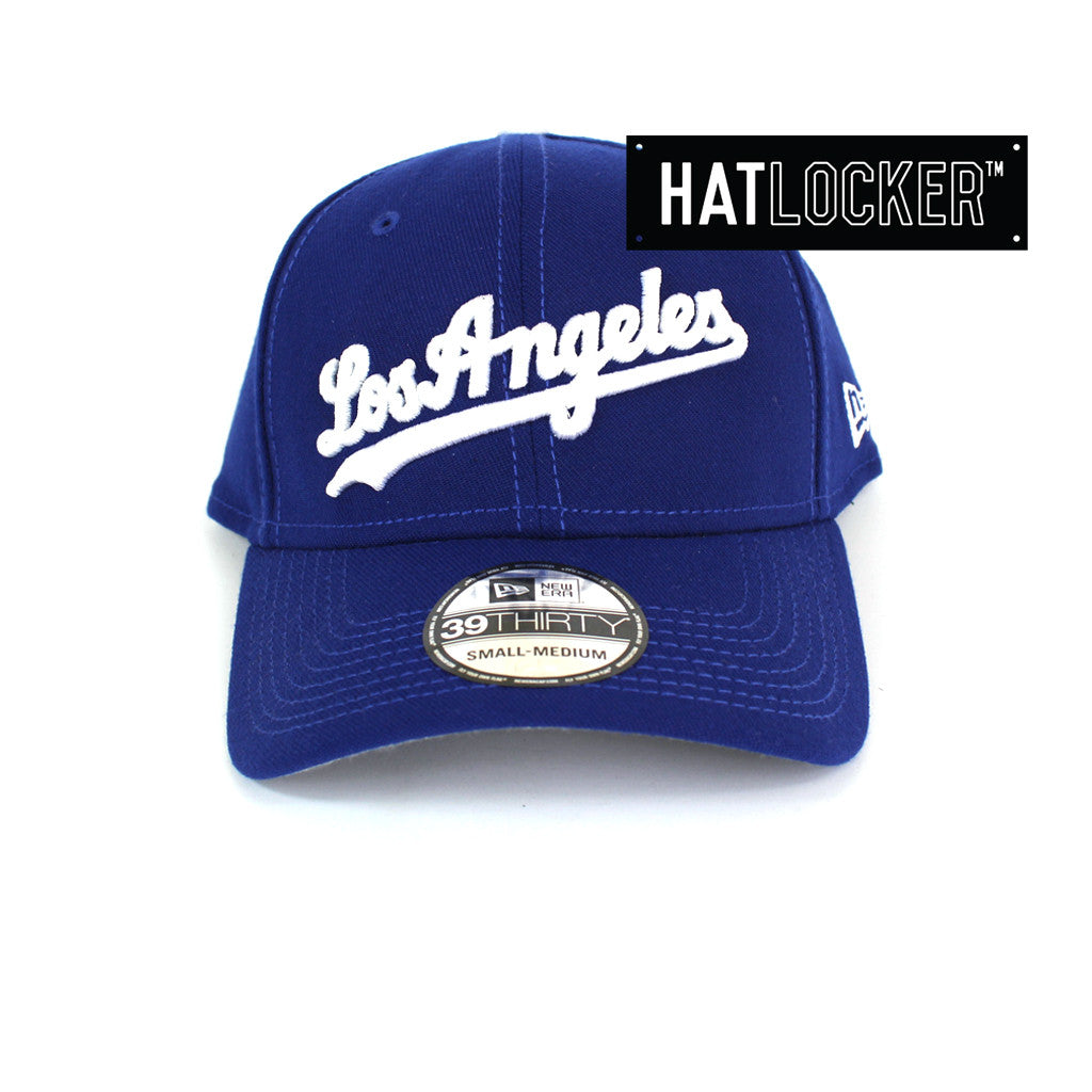 New Era - LA Dodgers Script Blue Curved Brim Stretch Fit