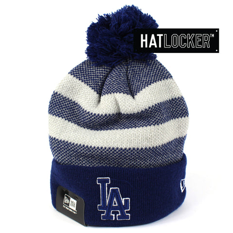 New Era LA Dodgers Grand Cuff Pom Knit Beanie