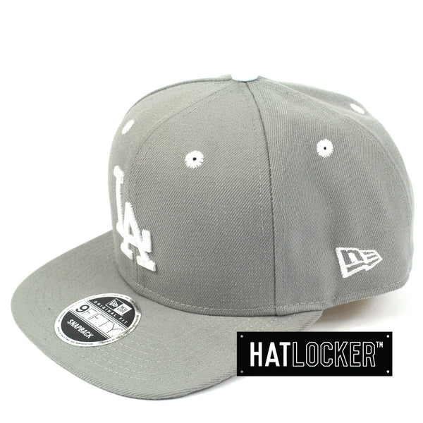 New Era LA Dodgers Grey Wheat Snapback Hat