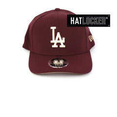 New Era LA Dodgers Maroon Precurved Snapback Cap