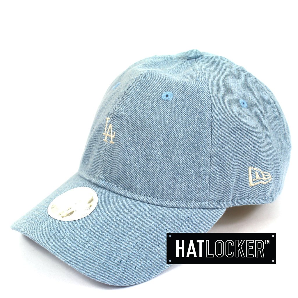99c2330fac1f2b Hat Locker Australia New Era Women's LA Dodgers Mini Logo Denim Curved Brim  Cap Side