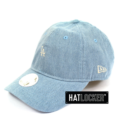 Hat Locker Australia New Era Women's LA Dodgers Mini Logo Denim Curved Brim Cap Side