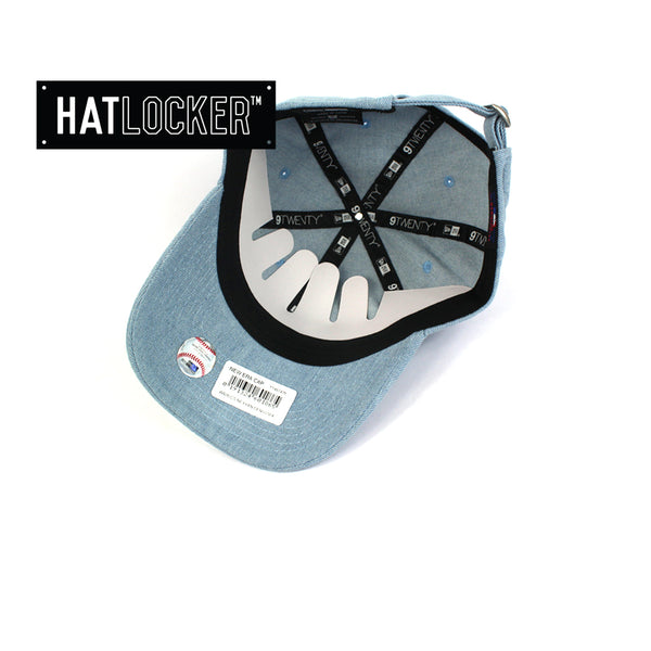 Hat Locker Australia New Era Women's LA Dodgers Mini Logo Denim Curved Brim Cap Under