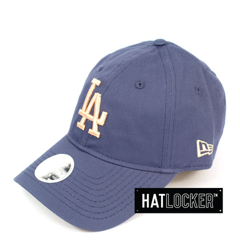 New Era Womens LA Dodgers Blueberry Apricot Curved Strapback