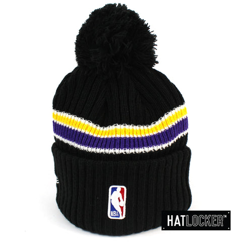 New Era LA Lakers BH Series Black Pom Knit Beanie Australia
