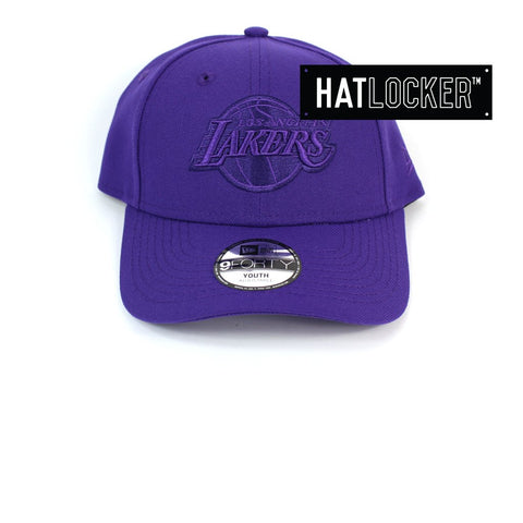 New Era LA Lakers Tonal Pop Purple Youth Curved Brim Cap