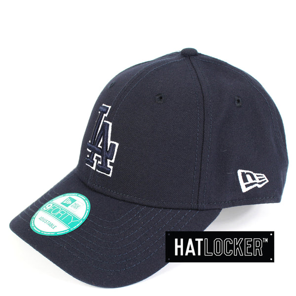 New Era LA Dodgers Navy White Basic Curved Brim Cap