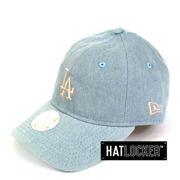 New Era Women's LA Dodgers Denim Curved Brim Hat