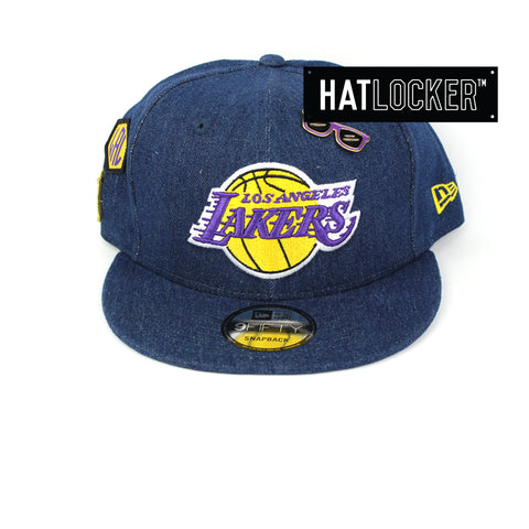 New Era Los Angeles Lakers Denim Snapback Cap