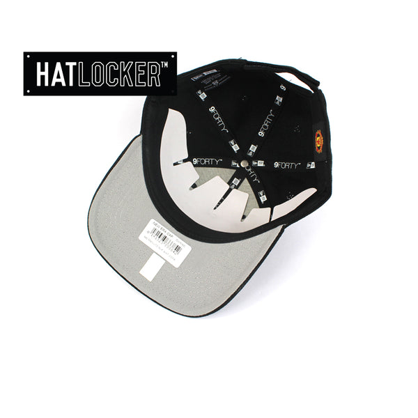 Hat Locker Australia New Era EPL Manchester United Black White Curved Hat Under