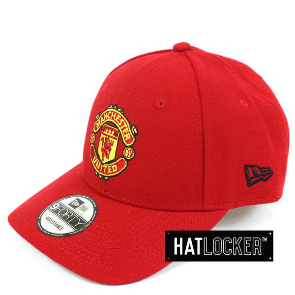 Hat Locker Australia New Era EPL Manchester United Team Home Jersey Curved Hat Side