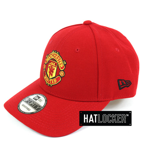 3a2fdcda6fd2a Hat Locker Australia New Era EPL Manchester United Team Home Jersey Curved  Hat Side