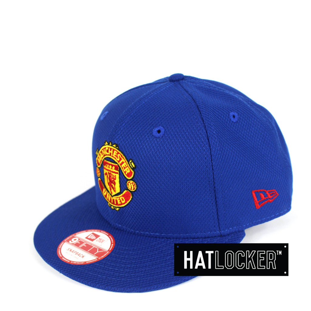 abd2ec02385a49 Details about New Era - Manchester United FC Team Logo Royal Snapback