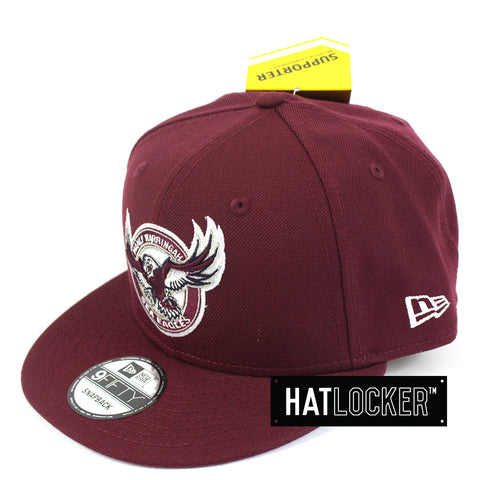 Hat Locker Australia New Era NRL Manly Sea Eagles Core Snapback Hat Side