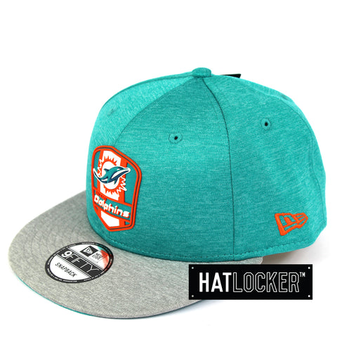 New Era Miami Dolphins 2018 Official Sideline Snapback Cap
