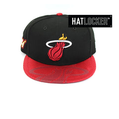 New Era Miami Heat On-Court Emblem Collection Snapback Hat